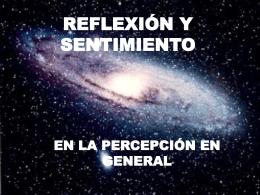 REFLEXIÓN Y SENTIMIENTO