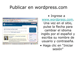 Publicar en wordpress.com