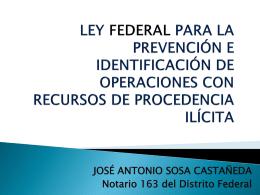 LEY FEDERAL PARA LA PREVENCIÓN E IDENTIFICACIÓN DE