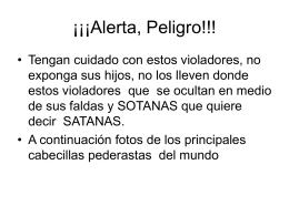 Alerta, Peligro!!!