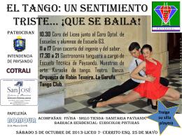El tango: un sentimiento triste… ¡que se baila!