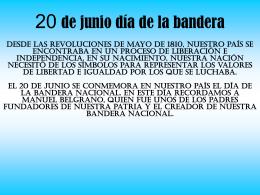 20 de junio día de la bandera