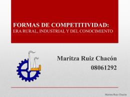 FORMAS DE COMPETITIVIDAD: ERA RURAL, INDUSTRIAL Y