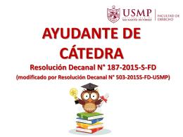 AYUDANTE DE CÁTEDRA - Facultad de Derecho -