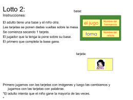 Lotto 2: Instrucciones: