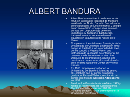 ALBERT BAMDURA