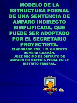 MODELO DE LA ESTRUCTURA FORMAL DE UNA SENTENCIA DE