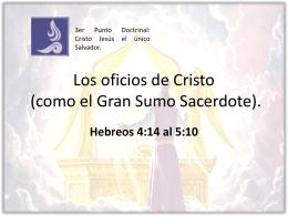 Escuela Dominical ICIAR - Los oficios de Cristo