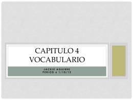 Capitulo 4 vocabulario