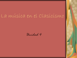 La música en el Clasicismo