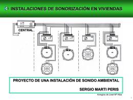 Proyecto de sonorización en viviendas.