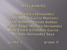 INTEGRANTES: Fabiola Baca Hernández Lesly Melisa
