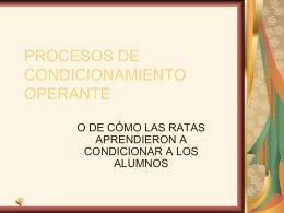 PROCESOS DE CONDICIONAMIENTO OPERANTE