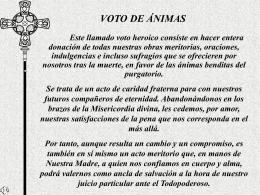 Voto de Ánimas - Capilla De Oración Católica