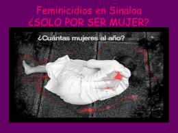Feminicidios en Sinaloa