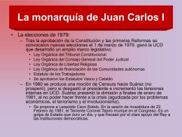 La monarquía de Juan Carlos I