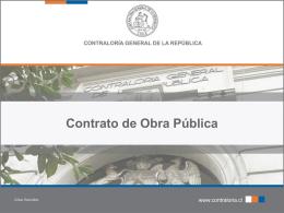 DEL CONTRATO DE OBRA PÚBLICA