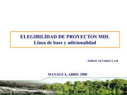 ELEGIBILIDAD DE PROYECTOS MDL