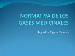 NORMATIVA DE LOS GASES MEDICINALES