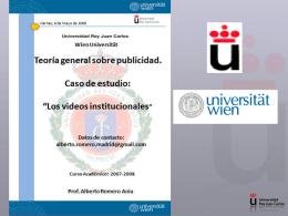 Un anuncio es - Prof Dr Alberto Romero Ania -