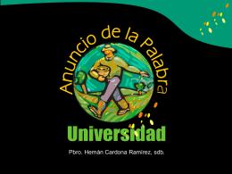 EL ANUNCIO DE LA PALABRA DE DIOS EN LA UNIVERSIDAD