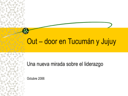 Out – door en Jujuy y Salta