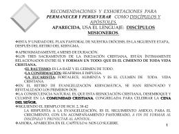 ESQUEMA DEL PRIMER PASO DESPUES DEL KERIGMA, PARA