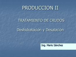 TRATAMIENTO DE CRUDOS - Producción II | Diseñado