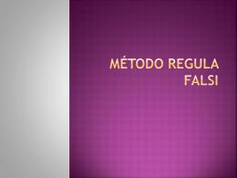 Método Régula Falsi