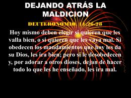 DEJANDO ATRÁS LA MALDICION