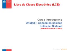 Curso Introductorio Unidad I: Conceptos básicos