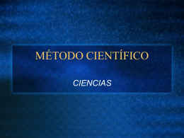 MÉTODO CIENTÍFICO - BIOLOGIA | Just another