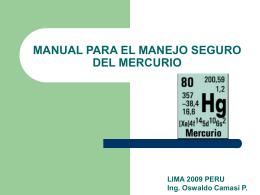 MANUAL PARA EL MANEJO SEGURO DE MERCURIO
