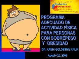 PROGRAMA ADECUADO DE ACTIVIDAD FÍSICA PARA