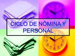 CICLO DE NÓMINA Y PERSONAL