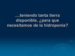 OBJETIVOS DE LA HIDROPONIA.