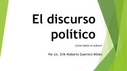 El discurso político