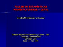 Industria Manufacturera en Ecuador
