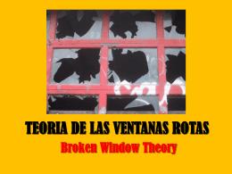 TEORIA DE LAS VENTANAS ROTAS