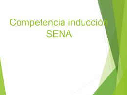 Competencia inducción SENA