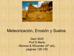 Meteorizacion y Suelos - Department of Geology