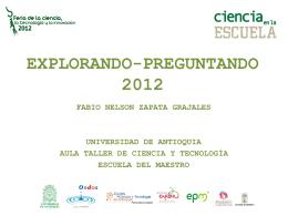 EXPLORANDO- PREGUNTANDO 2012