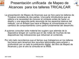 Presentación de Mapeo de Alcances para proyecto