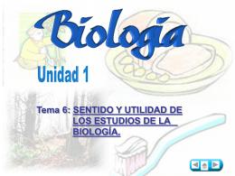 Sentido y utilidad de los estudios de biología.1