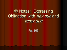 ©Notas: Expressing Obligation