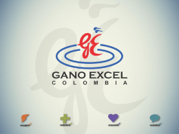 Diapositiva 1 - Pioneros Gano Excel International