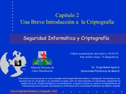 Breve Introducción a la Criptografía