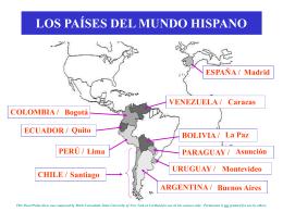 LOS PAÍSES DEL MUNDO HISPANO - SUNY Cortland -