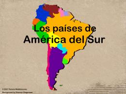 Los países de América del Sur