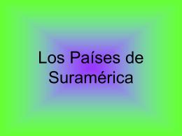 Los Países de Suramérica